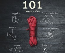 101 way to use paracord. Multifunctional cord.