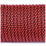 Paracord Type III 550, red snake  (fire) #262