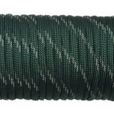 Paracord reflective, dark emerald green #r3022