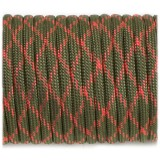 Paracord Type III 550, OD red camo #165