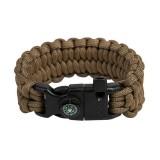 """Bracelet """"Loops"""" Survival, Coyote brown"""