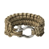 "Quickly unravel bracelet ""Loops"", Coyote brown"