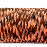 Paracord Type III 550, safety orange black camo #412