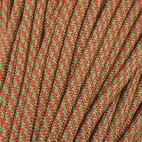 Paracord Type III 550, Red/Green TWIST #428 (021+331)