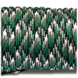 Paracord Type III 550, green camo #065