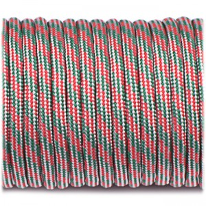 Paracord Type III 550, red green sky #313