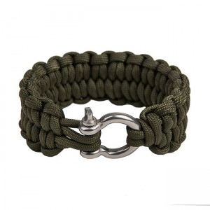 "Quickly unravel bracelet ""Loops"", Army green"
