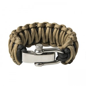 """Bracelet """"Double Cobra"""", Black and Coyote Brown"""