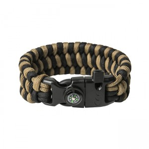 "Bracelet ""Trilobite"" Survival, Black and Coyote brown"