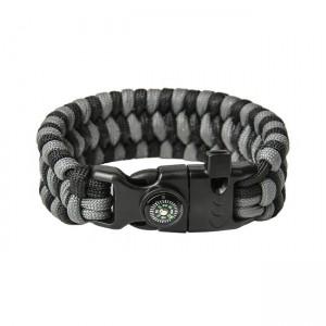 "Bracelet ""Trilobite"" Survival, Black and Grey"