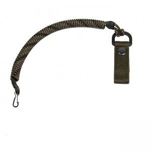 Safety cord with carabiner and belt clip, veteran