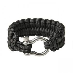 "Quickly unravel bracelet ""Loops"", Black"