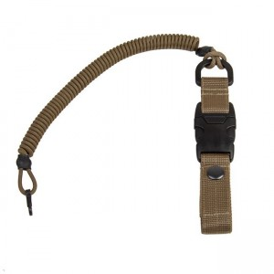 Safety cord with quick-release fastening, coyote