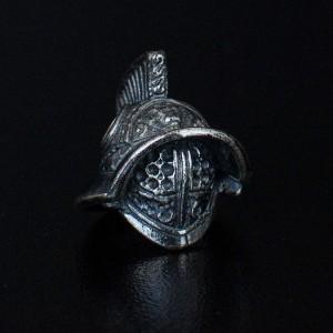 "Bead ""Gladiator Helmet"" silver"