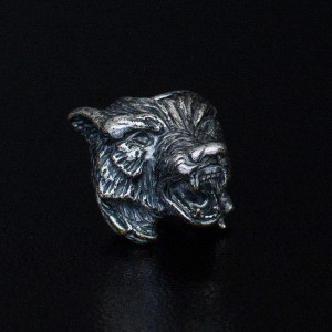 "Bead ""Wolf"" silver"