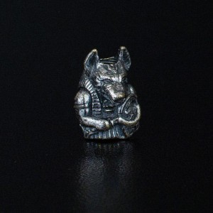 "Bead ""Anubis"" silver"