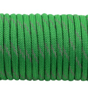Paracord reflective, green #r3025
