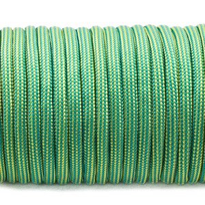 Paracord Type III 550, ice mint yellow stripes #255