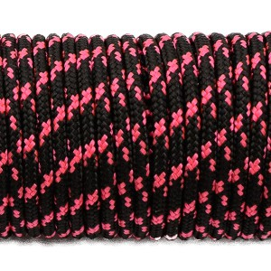 Minicord (2.2 mm), black with pink X #112-2